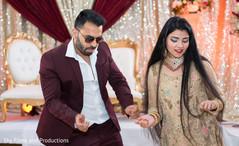 Indian wedding guests dancing