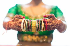 Detail of the Indian bridal jewelry