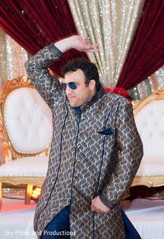 Indian wedding guest having a great time