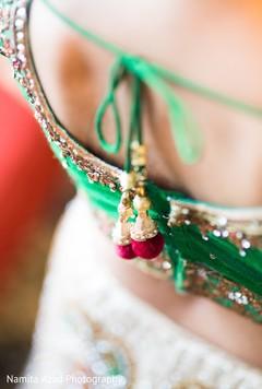 Close up details of maharani's wardrobe