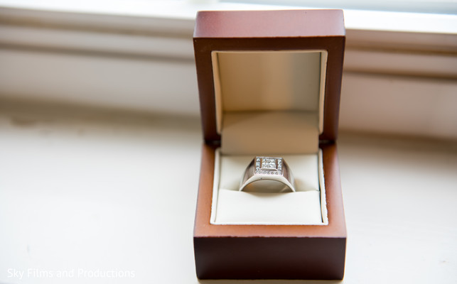Indian groom wedding ring
