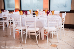 Indian wedding table set up