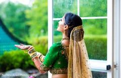 Indian bride's wedding lengha details