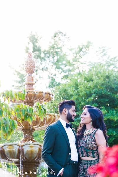 Marvelous outdoor Indian wedding photo shoot.