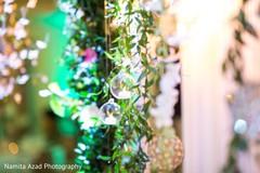 Dreamy Indian wedding reception  flower decoration.