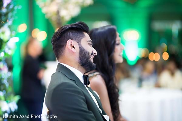 Raja and maharani smiling during the reception