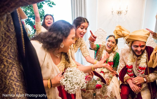 Fun capture of Indian bride and bridesmaids