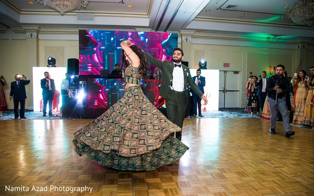 Lovely capture of raja and maharani dancing at the venue