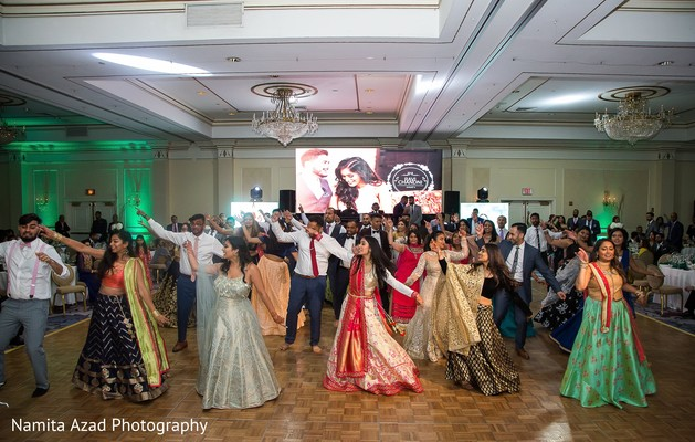 Fun choreography at the Indian wedding reception