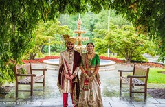 Indian bride and groom during the photo shoot