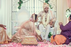 Moment of the Indian wedding ceremony rituals