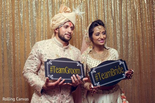 indian wedding,reception,newlyweds,maharani