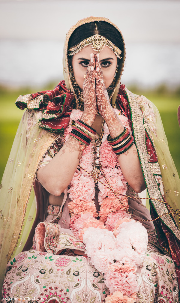 Ravishing indian bride portrait.