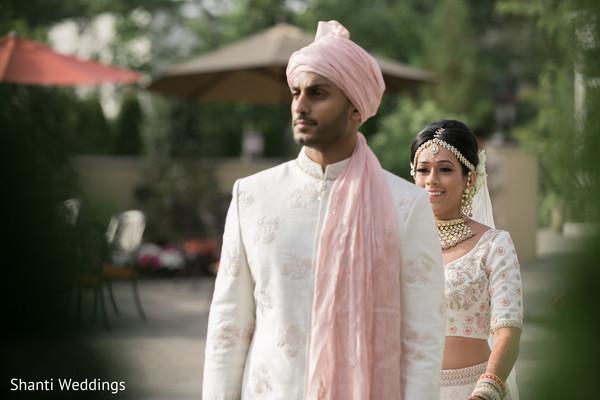 Indian bride on her way to meet groom.