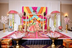 Perfect Indian bride and groom sangeet photo session.