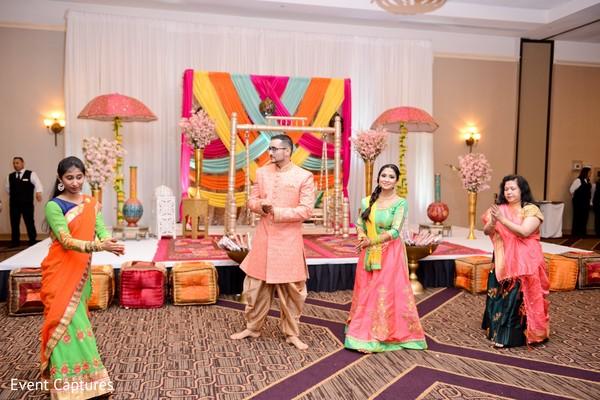 sangeet,indian bride and groom,sangeet rituals