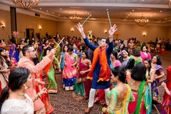 Beautiful Indian pre-wedding Garba celebration capture.