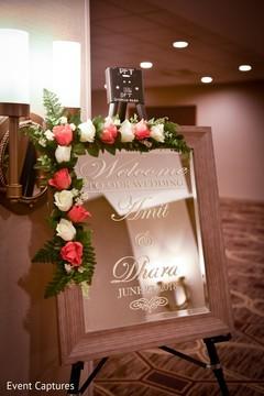 Magnificent Indian wedding sign design.