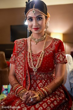 Dazzling indian bride portrait.