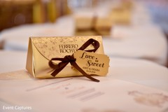 Personalize Indian wedding chocolates favors.