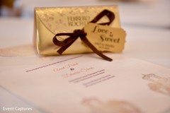 Indian wedding stationery and favors.
