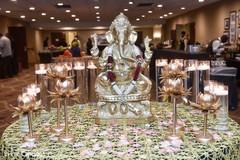 Wonderful Indian wedding Ganesha table decoration.