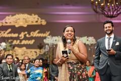 Lovely indian wedding speech scene.