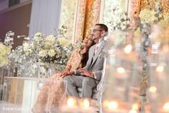 Indian couple's joyfully reception speech moment.