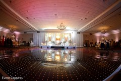 Magnificent Indian wedding reception dance floor.