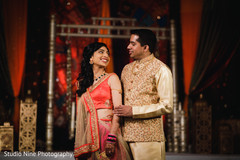 Lovely Indian love birds on their sangeet party.