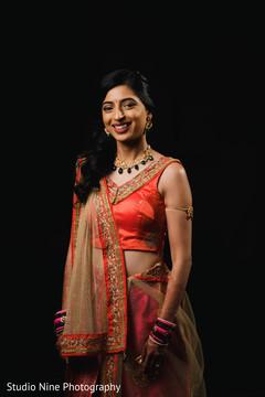 Wonderful Indian bride pre-wedding fashion.