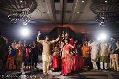 Indian lovebirds having their sangeet  dance.