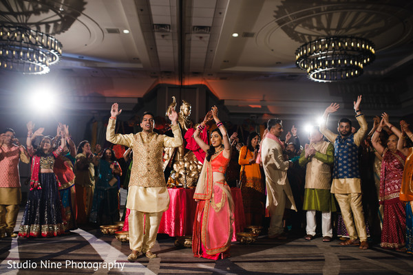 indian bride,indian groom,sangeet dance,sangeet