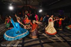 Splendid sangeet Indian bridesmaids dance.