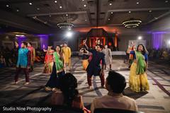 Indian sangeet dance performance.
