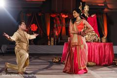 Indian bride and grooms sangeet dance capture.