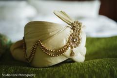 Indian groom's elegant turban.