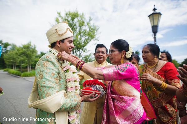 Traditional Indian groom's baraat ritual.