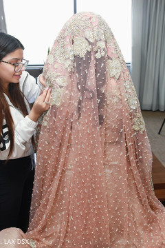 Details of the veil used by the beautiful maharani