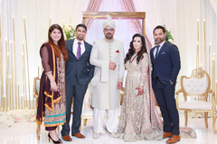 Elegant special guests and Indian newlyweds