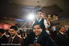 Adorable indian guest during reception celebration.