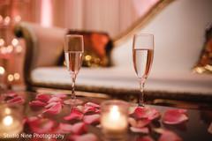 Indian wedding reception glassware capture.