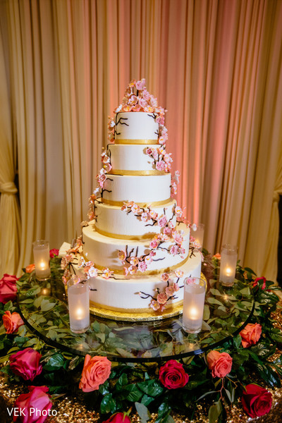 indian wedding,cake,guests,floral arrangement