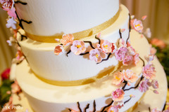 Close up details of the wedding cake