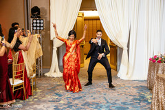Indian newlyweds make their amazing entrance to the reception