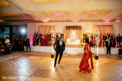 Indian newlyweds perform a grand choreography at the reception