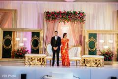 Indian wedding reception venue decor