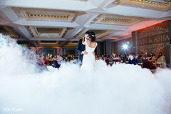 Amazing shot of the Indian couple having their first dance