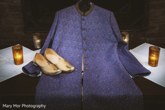 Details of Indian groom's sherwani and shoes