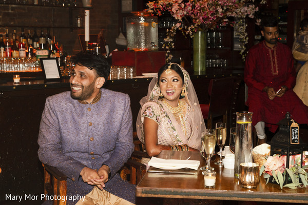 Capture of Indian newlyweds at the reception